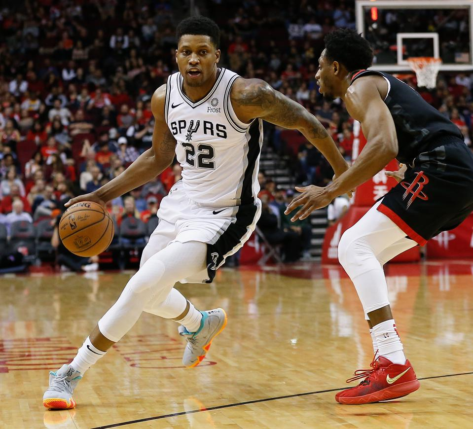 San Antonio Spurs forward Rudy Gay announced he will open several locations of a basketball-themed fitness franchise.
