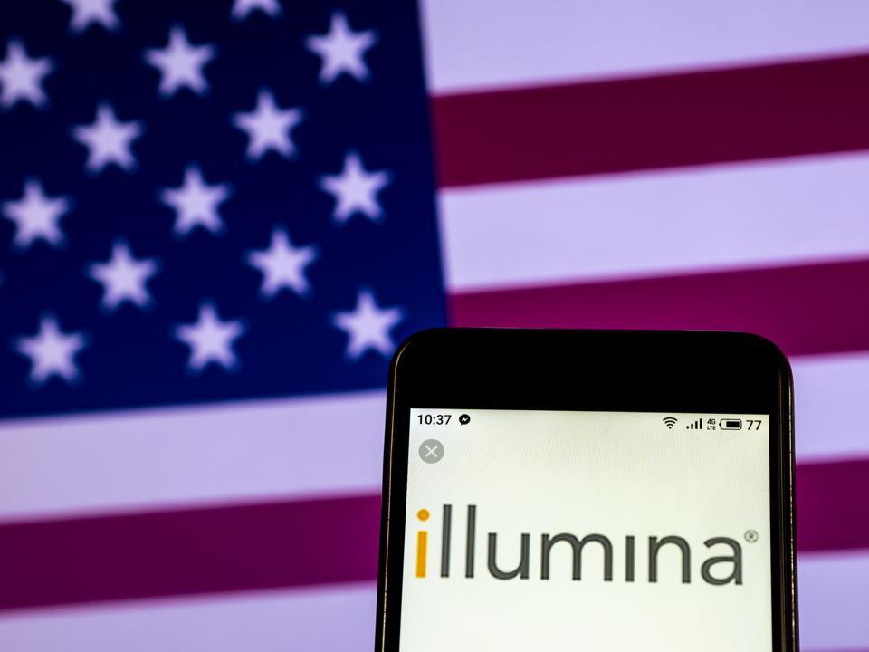 Illumina Biotechnology company logo seen displayed on a