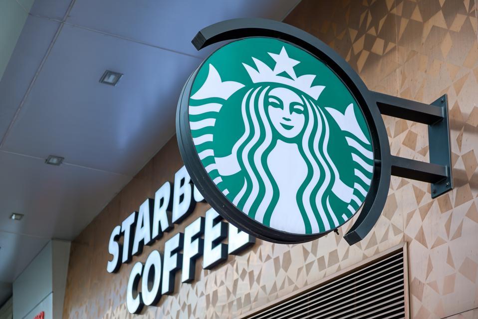 starbucks coffee sign seen in Hong Kong...