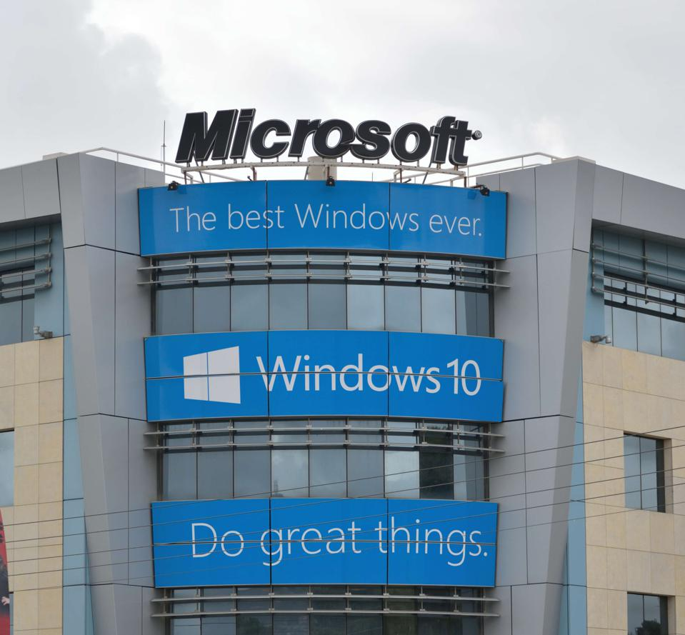 Facade of the headquarter of Microsoft at Greece.