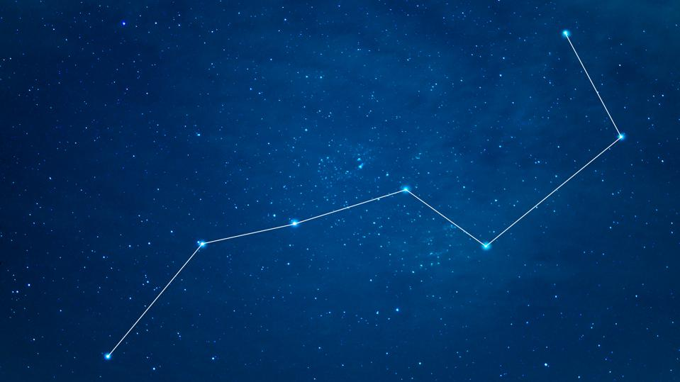 The Big Dipper is straight above you in July.