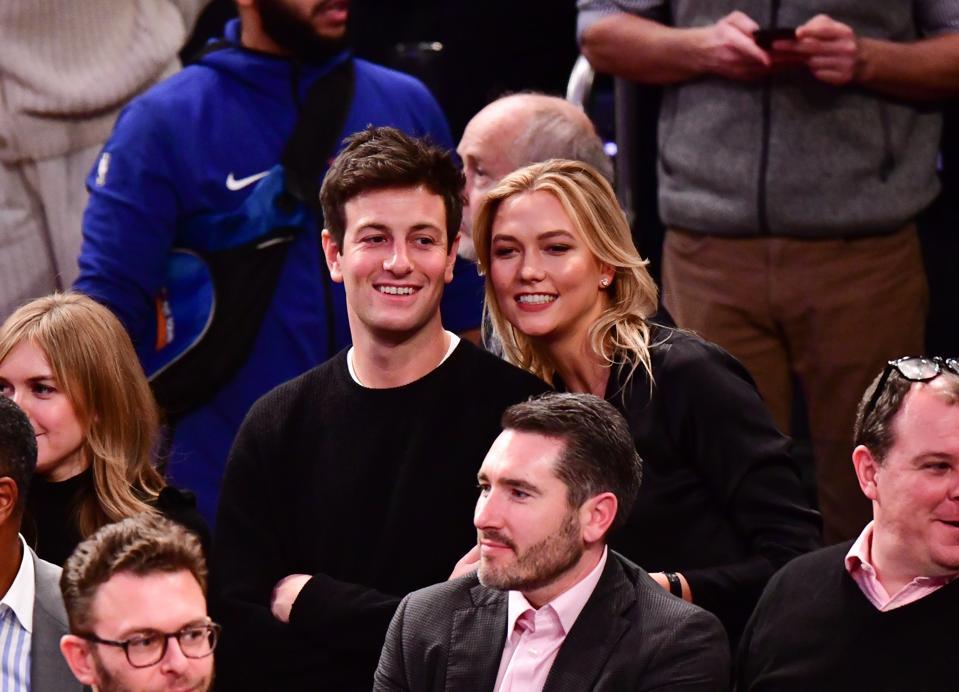 Celebrities Attend Houston Rockets v New York Knicks