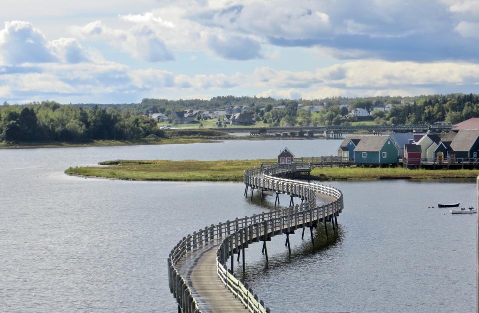 Bridge to Pays de la Sagouine, New Brunswick Atlantic travel bubble Canada