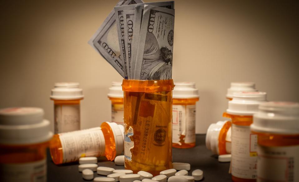 American Currency in a Prescription Drug Bottle