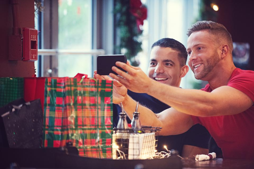 Christmas summer with multi-ethnic gays