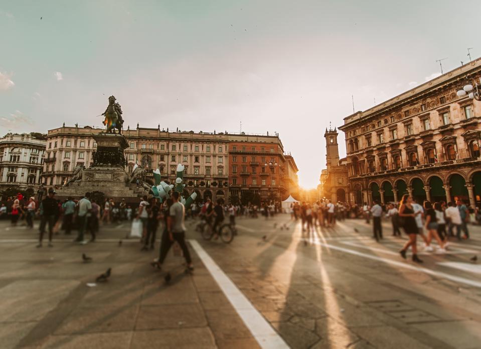 piazza duomo, Milan.