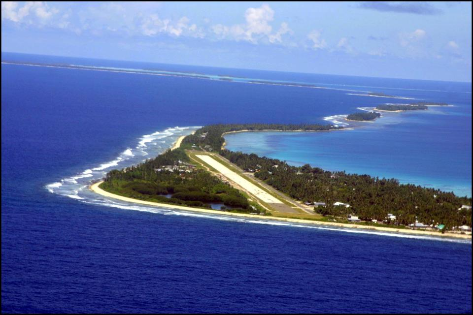 Climate Warming And Water Rise Threaten Pacific Nation Of Tuvalu. On January 4Th, 2002 In Funafuti, Tuvalu.