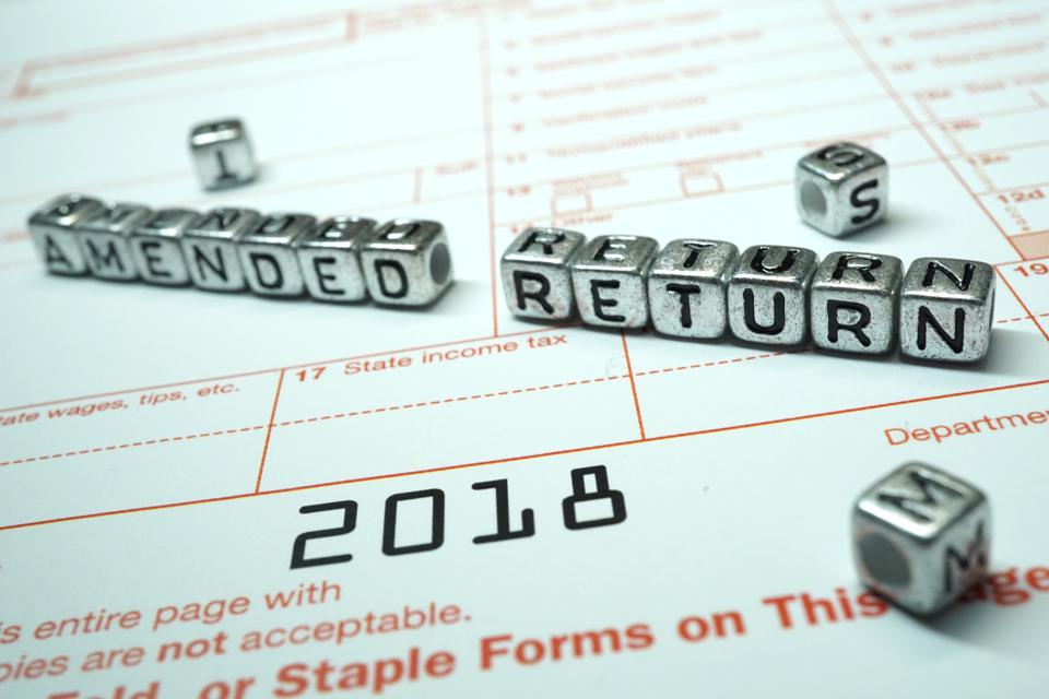 Thanks to retroactive action by Congress, some taxpayers may want to amend their 2018 returns.