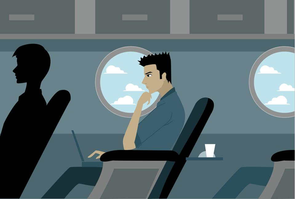 Middle seat airplanes.