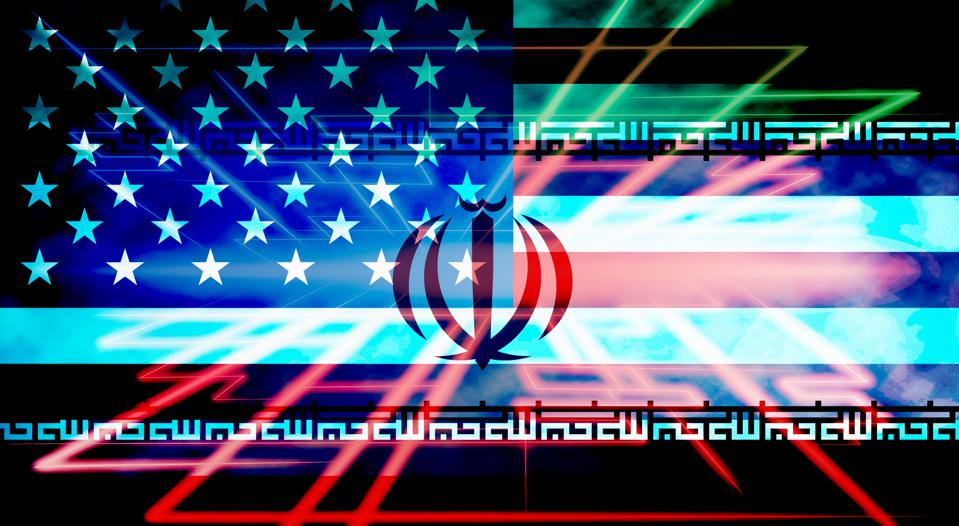 Us Iran Conflict And Sanctions Or Agreement - 2d Illustration