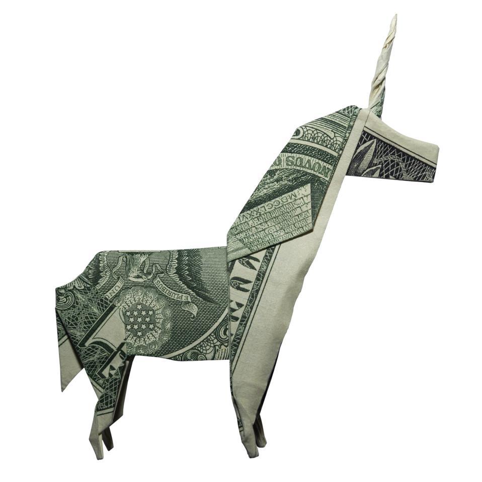 Money Origami UNICORN