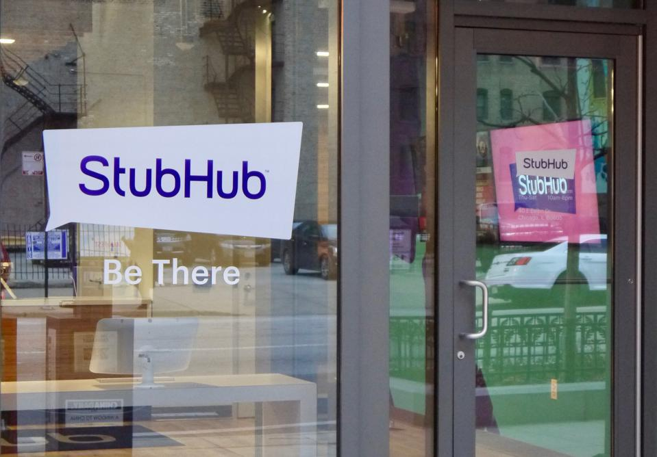 Online ticket exchange company StubHub HQ (owned by eBay) in Chicago, Illinois, January 2019.