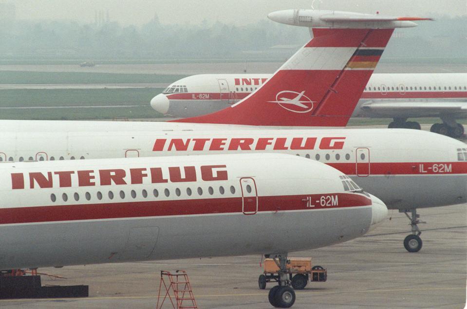 Interflug stellt Betrieb ein (Archivfoto und Text 1991)