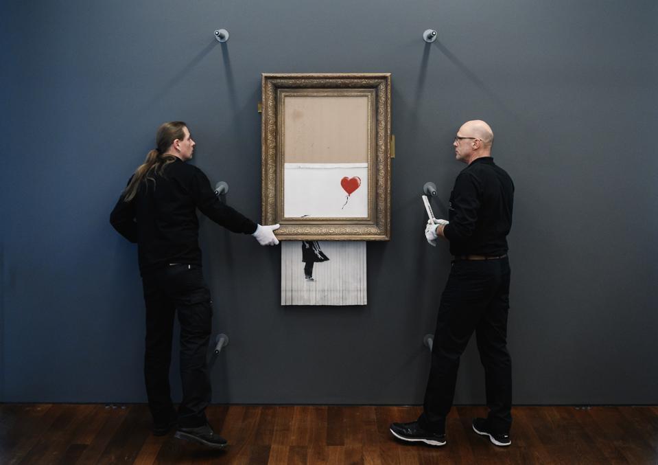 Banksy's ″Love In The Bin″ At Museum Frieder Burda In Baden-Baden