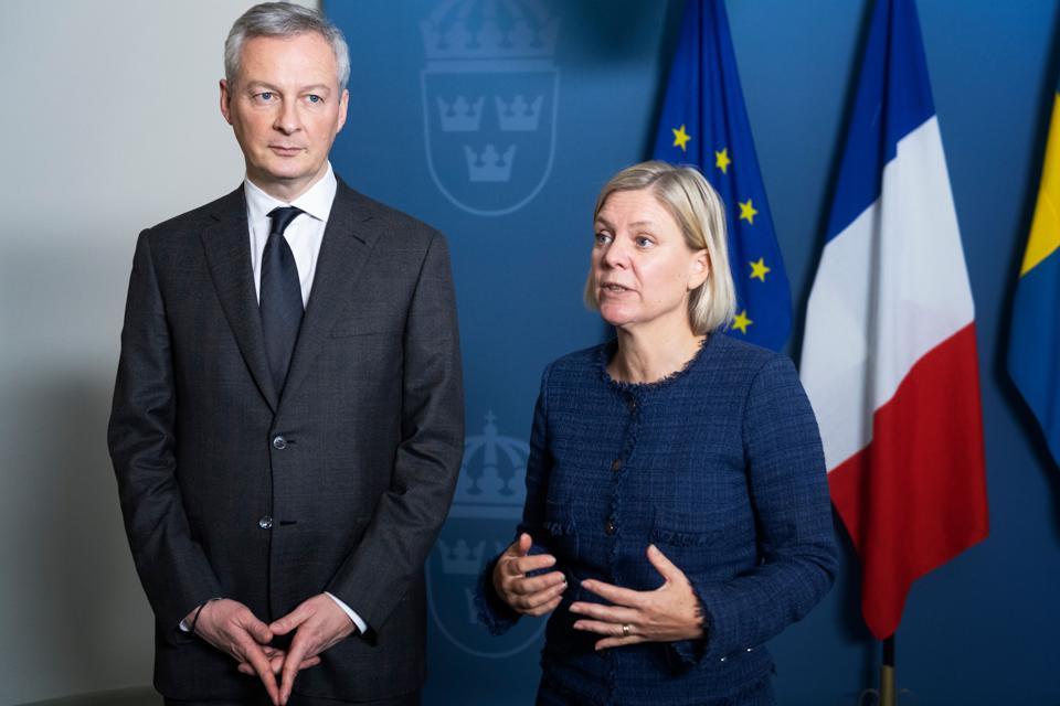 SWEDEN-POLITICS-BRUNO-LE-MAIRE