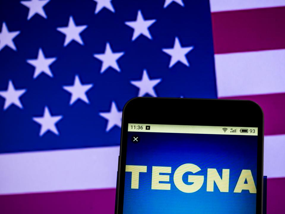 Tegna Inc. Broadcasting company logo seen displayed on a