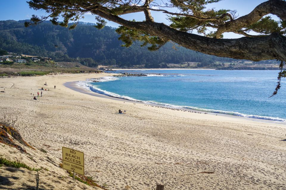 Carmel River State Beach on a sunny day, Carmel-by-the-Sea, Monterey Peninsula, California
