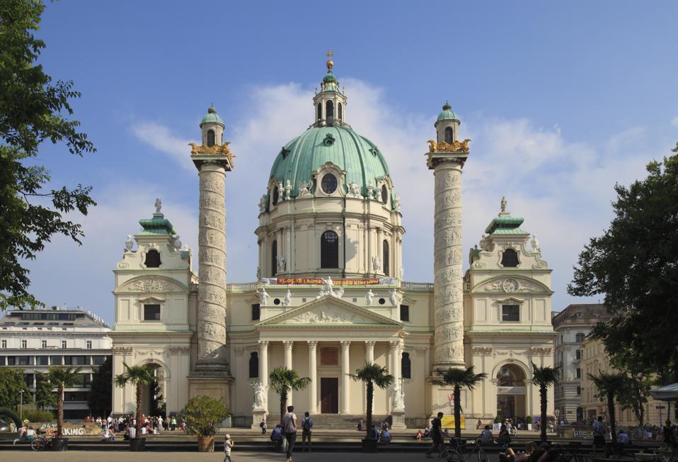 St Charles Church, Karlskirche. Vienna, Austria
