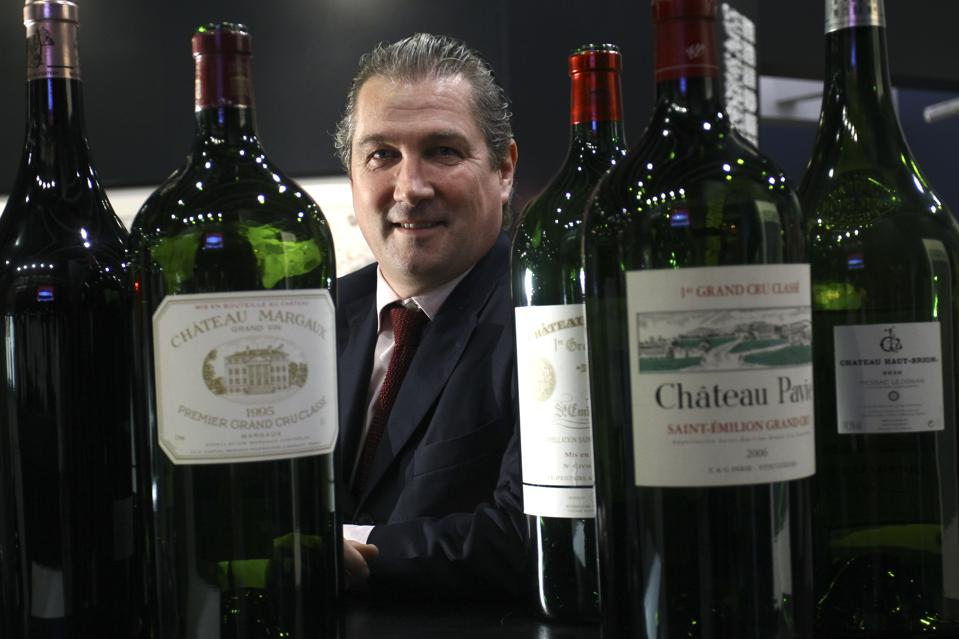 Jamie Ritchie, CEO & President of Americas and Asia of Sotheby's Wine, posed at the venue of Sotheby's wine auction in Hong Kong Convention and Exhibition Centre in Wanchai. 03APR15