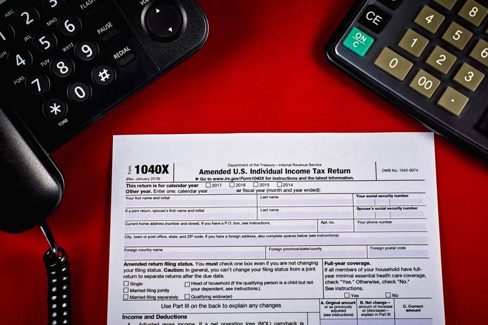Clean Tax Form 1040X