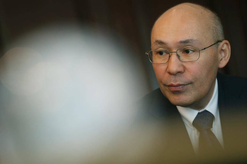 Kazakhstan's governor of Astana International Finance Centre Kairat Kelimbetov. Island Shangri-La, Admiralty.  29FEB16  SCMP/David Wong