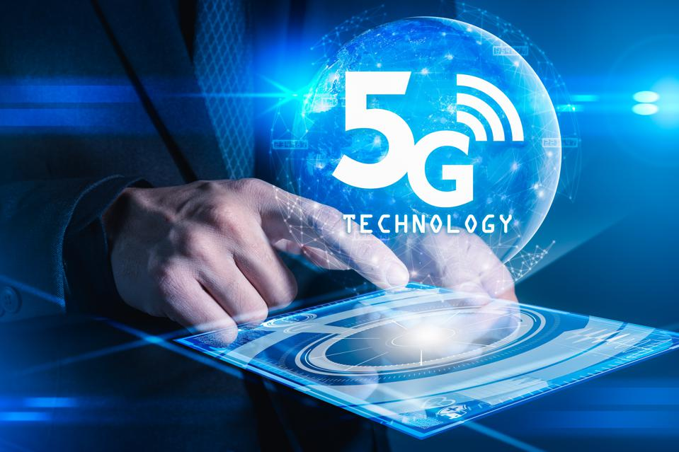 5g and communications concept.