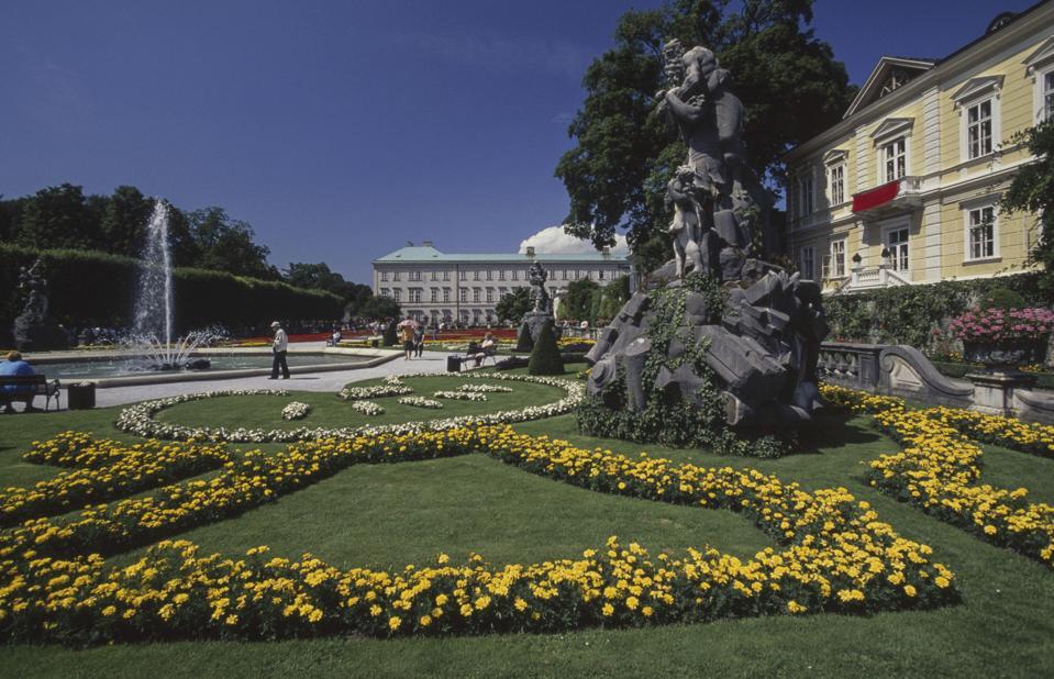 Mirabell castle gardens, Salzburg