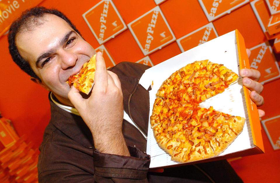Stelios Haji-Ioannou Launches Easy Pizza - Press Conference
