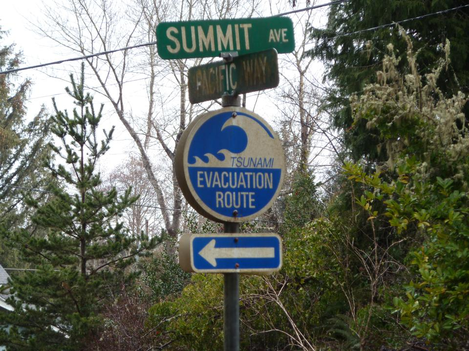 A sign in the coastal town of Seaside, O