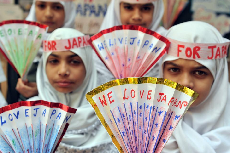 Indian Muslim school girls of Mesco Grad