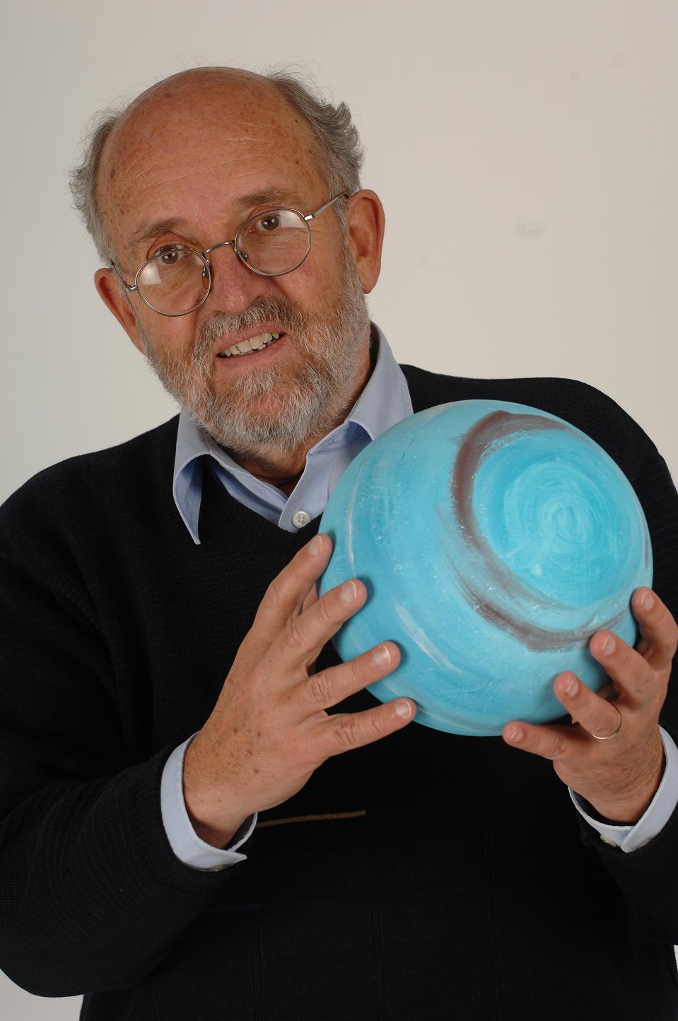 Close up of Michel Mayor in Geneva, Switzerland on December 06th, 2007.