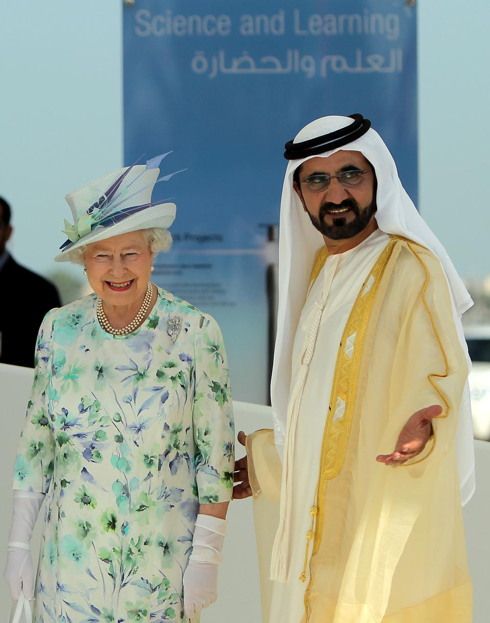 Britain's Queen Elizabeth II is escorted