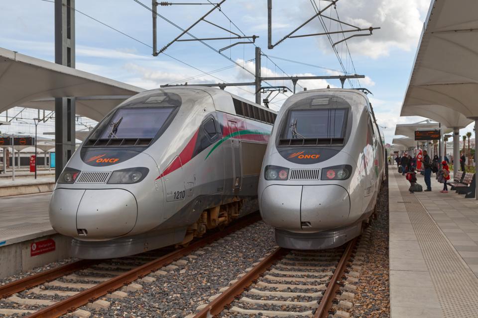 Two high speed trains ″Al Boraq″