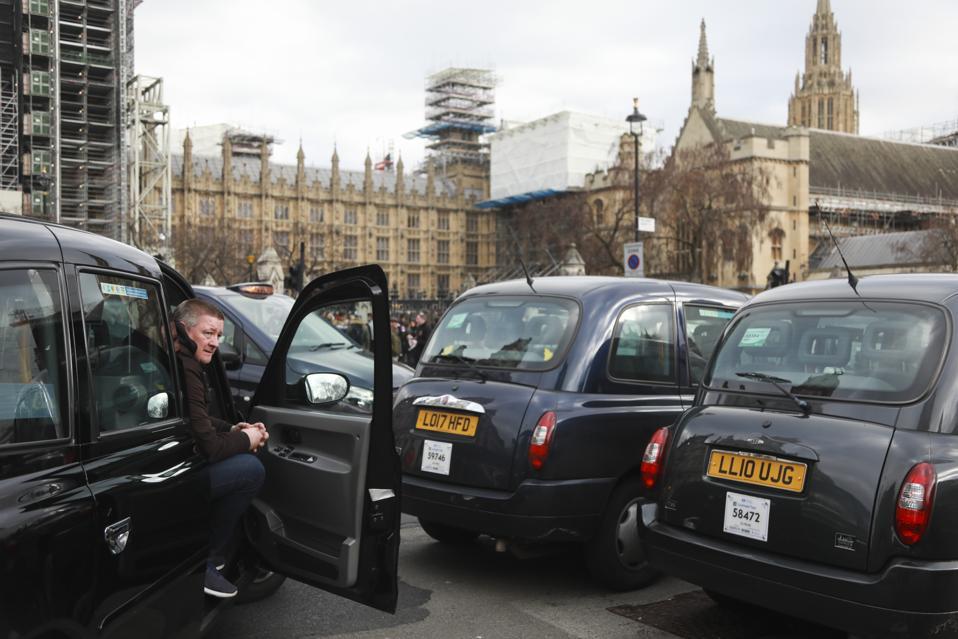 Black cab blockade.