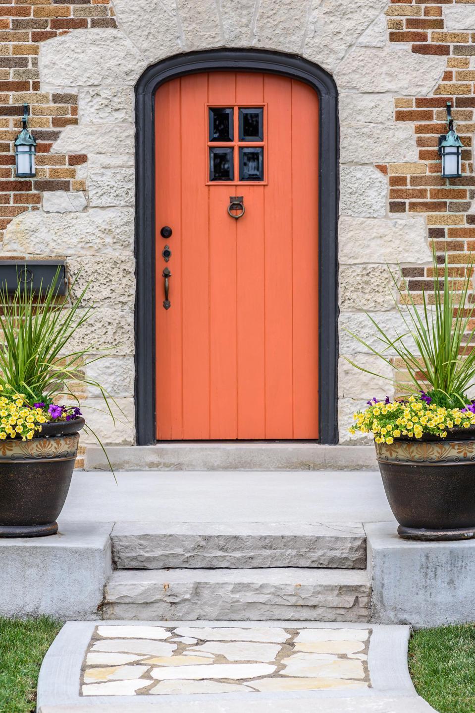 Orange door curb appeal