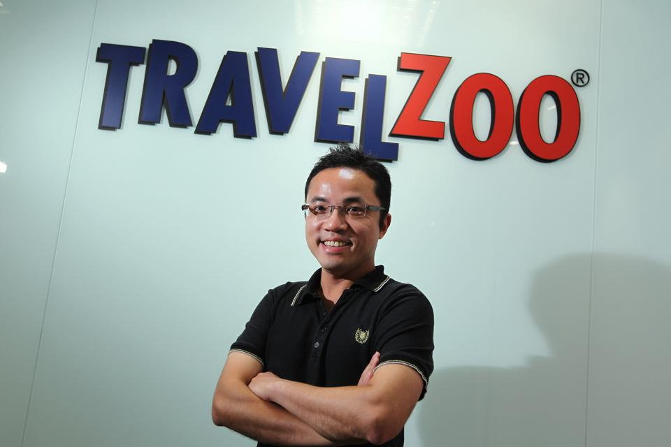 Portrait of Poon Wai-nang, Publisher of Travelzoo Hong Kong, at their office in Fortress Hill. 31JUL13