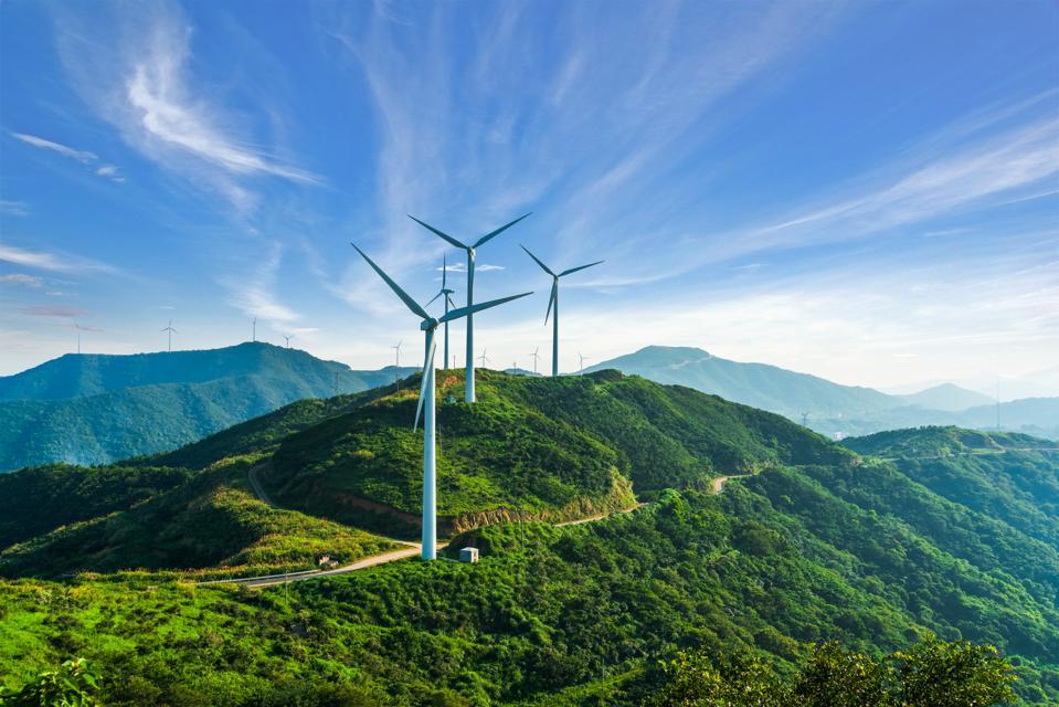 windmills in zhoushan