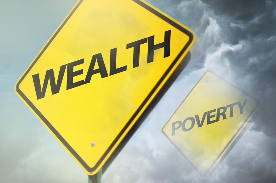 Wealth or POVERTY / Warning sign concept (Click for more)