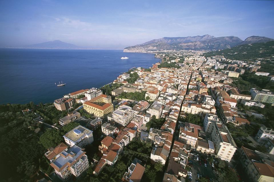 Aerial view of Sorrento, Campania