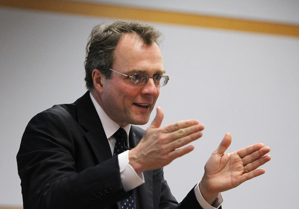Julian Birkinshaw, Professor and Chair of Strategy & Entrepreneurship, London Business School, delivers a speech at The University of Hong Kong. 07MAY14
