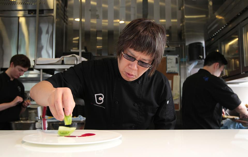 Alvin Leung, chef of Bo Innovation, poses for a photograph at the restaurant in Wan Chai. 07AUG14