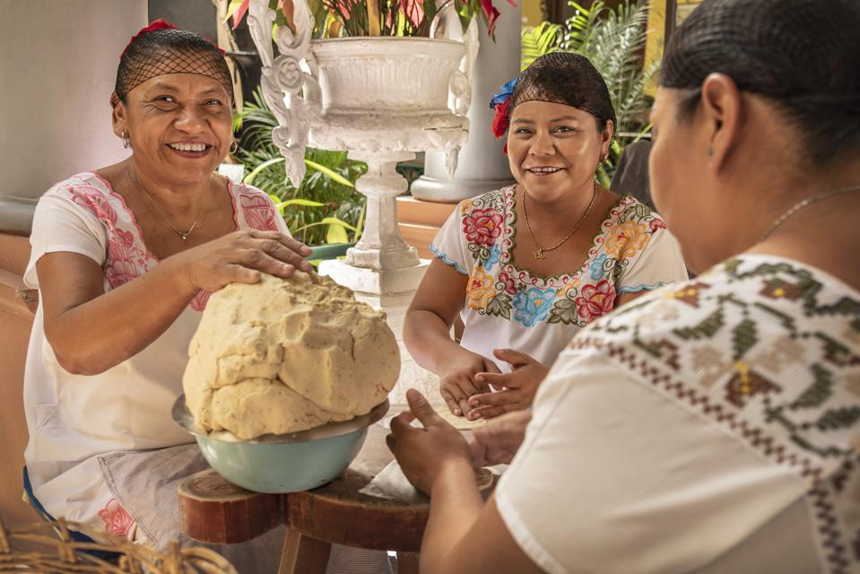 Women making Tortillas