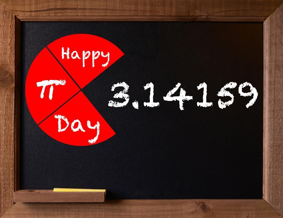 Pi Day themed Chalkboard