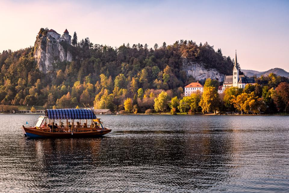 Lake Bled with Pletna and Bled Castle