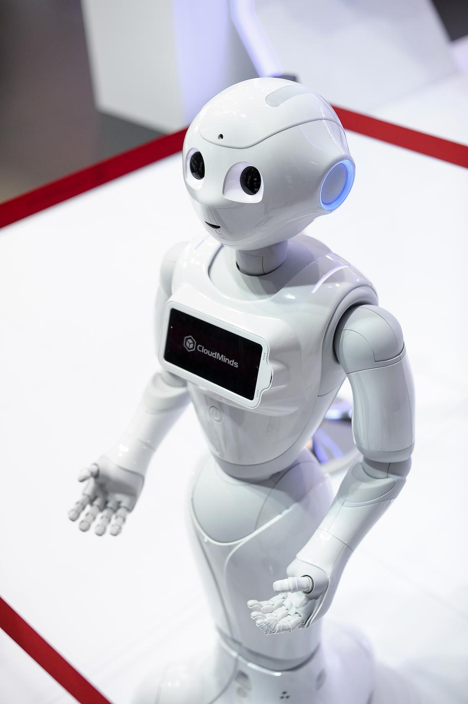 SoftBank Robotics Pepper robot(Photo by Joan Cros/NurPhoto via Getty Images)