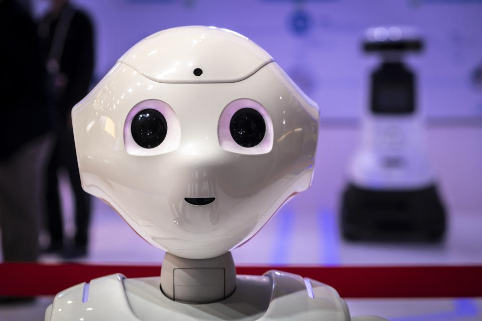 The humanoid robot Pepper of the American company Cloud-...