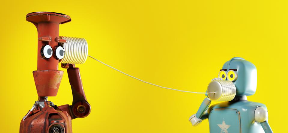 Robots communicating via voice