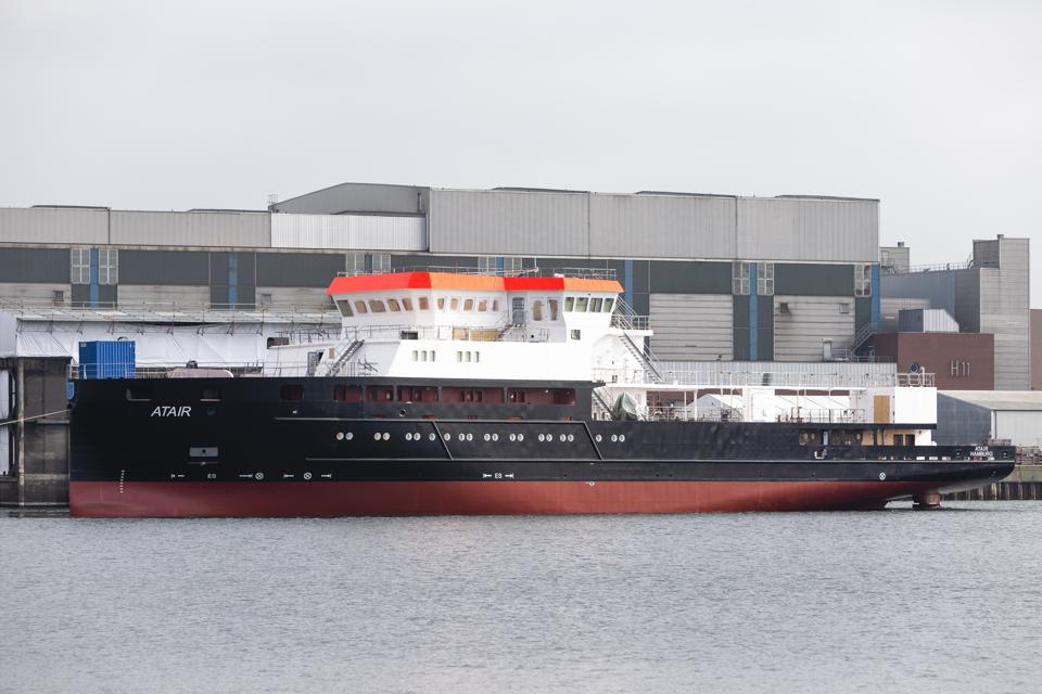 Test voyage of the research vessel ″Atair″ in Kiel