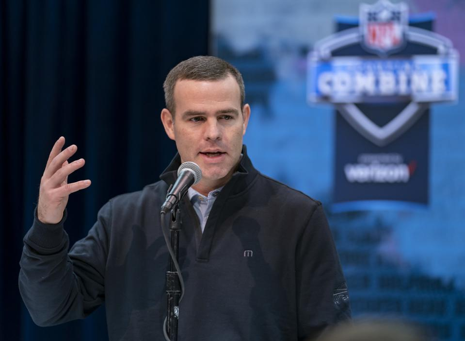 Brandon Beane at the NFL Combine in 2019.