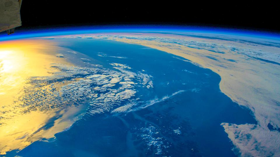 Planet Earth seen from Space, creative view of the artist